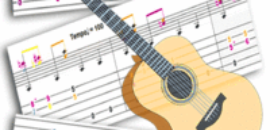 Tablatures pour guitares